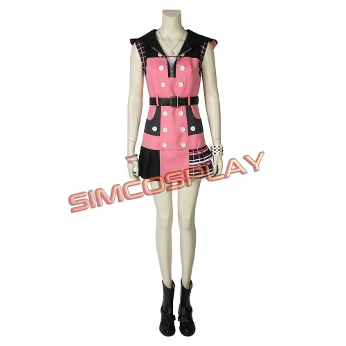 Kairi Cosplay Costume Pink Outfit Kingdom Hearts 3 Edition