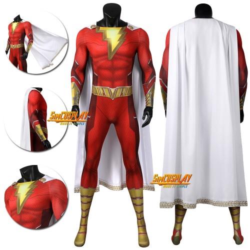 Shazam Cosplay Costume Shazam 2 Fury of the Gods Cosplay Suit
