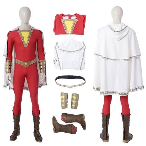 2019 Shazam Billy Batson Cosplay Costumes Top Level
