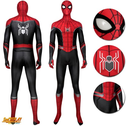 Spider-Man Far From Home Peter Parker Cosplay Costumes Deluxe Ver.2