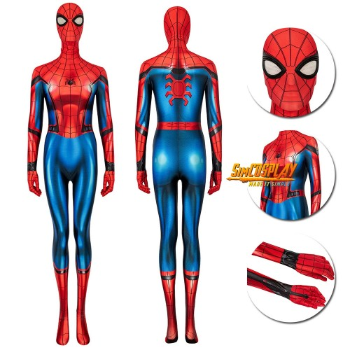 Spider-Man Far From Home Spider-Man Peter Parker Cosplay Suit For Ladies