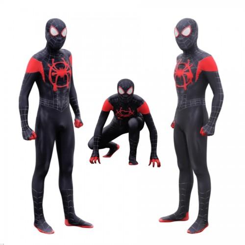Spider-man into the spider-verse Miles Morales black suit