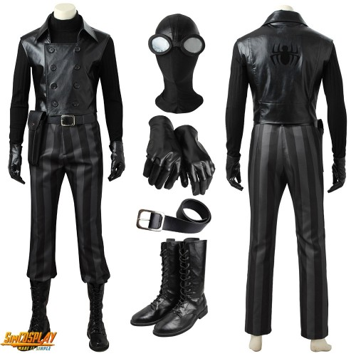 Spider-man Into The Spider Verse Noir Cosplay Costume Top Level
