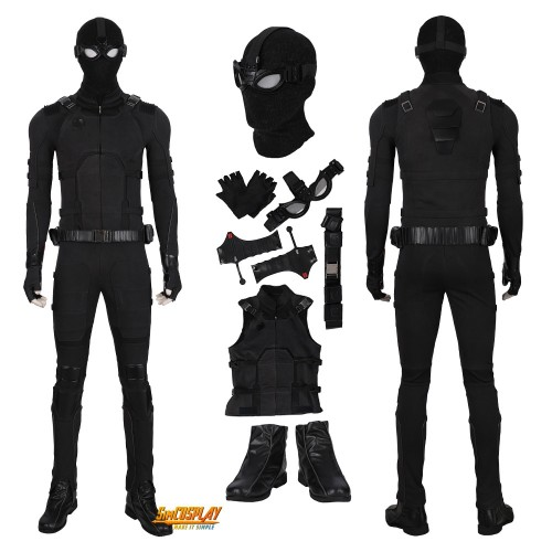 Spider Man Stealth Suit Far From Home Cosplay Costumes Top Level