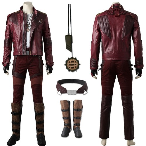 Star Lord Peter Quill Cosplay Costume GOTG 2 Cosplay Artificial Leather Suit Ver.2