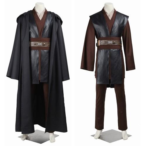 Star Wars Anakin Skywalker Cosplay Costume Classic Black Suit