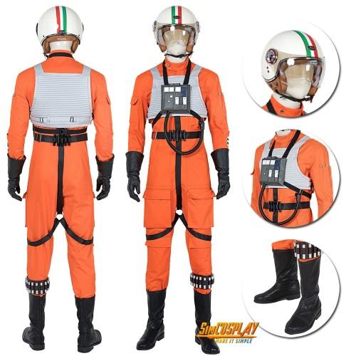 Star Wars Squadrons Cosplay Costumes Orange Pilot Uniform Cosplay Suit