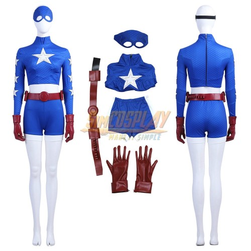 Stargirl Costume Courtney Whitmore Cosplay Suit Star-Spangled Kid Outfits Top Level