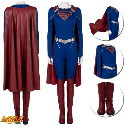 Supergirl Cosplay Costumes Season 5 Kara Zor-El Cosplay Suit Top Level