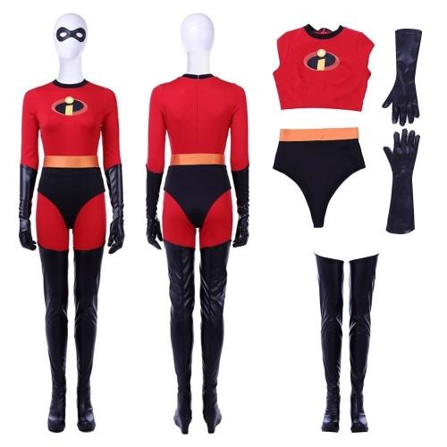 The Incredibles 2 Elastigirl Helen Parr Cosplay Costume New