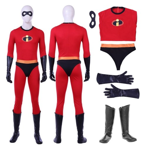 The Incredibles Mr.Incredible Bob Parr Cosplay Costume New