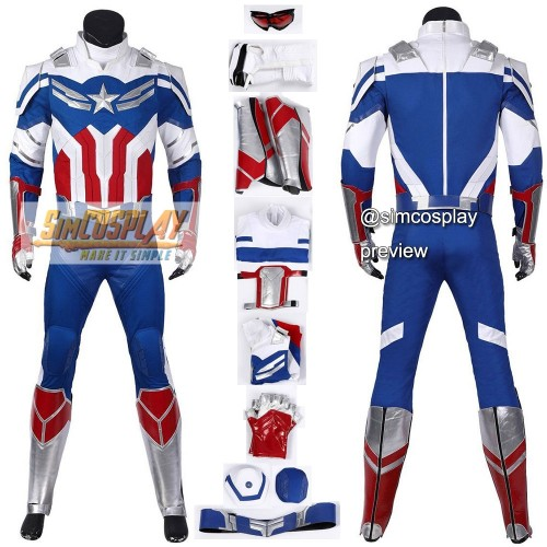 The Falcon Cosplay Costumes Classic Blue Edition Custom Size Supported