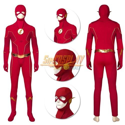The Flash Cosplay Costumes Season 6 Barry Allen Suit Ver.3 Top Level