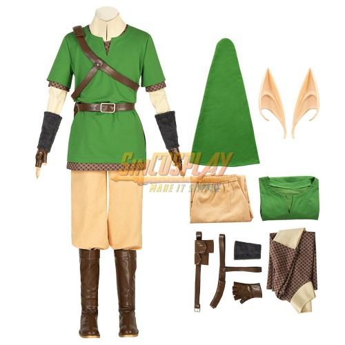 The Legend of Zelda Skyward Sword Link Cosplay Costumes Top Level