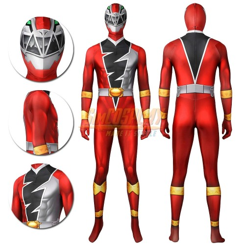The Red Ranger Cosplay Costume Koh Ryusoul Red Power Ranger Cosplay Suit