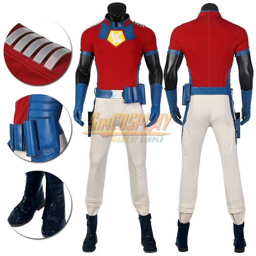 The Suicide Squad 2 Peacemaker Cosplay Costumes Top Level
