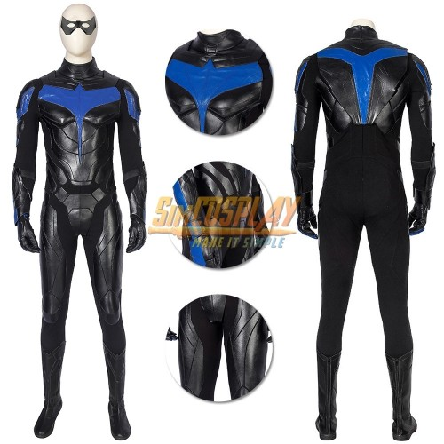 Titans Nightwing Cosplay Costume The Season 1 Dick Grayson Suit Top Level