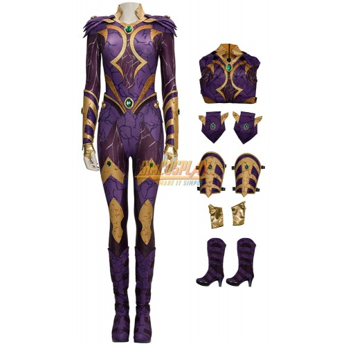 Titans Starfire Cosplay Costume Leather Cosplay Suit For Female