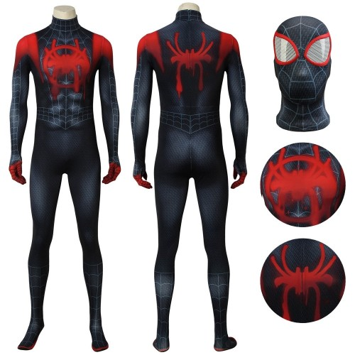 Ultimate Spider-man Cosplay Miles Morales Cosplay Costume Top Level