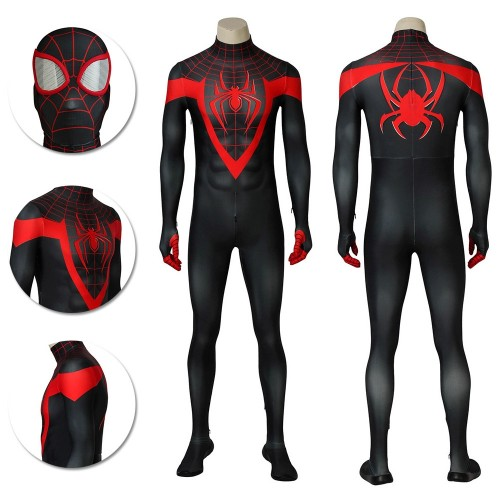 Ultimate Spider-Man Miles Morales Costume Ultimate Spider Cosplay Suit