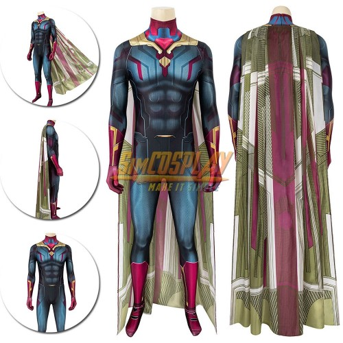 Vision Costume The Wanda Vision Cosplay Suit 3D Printed Edition