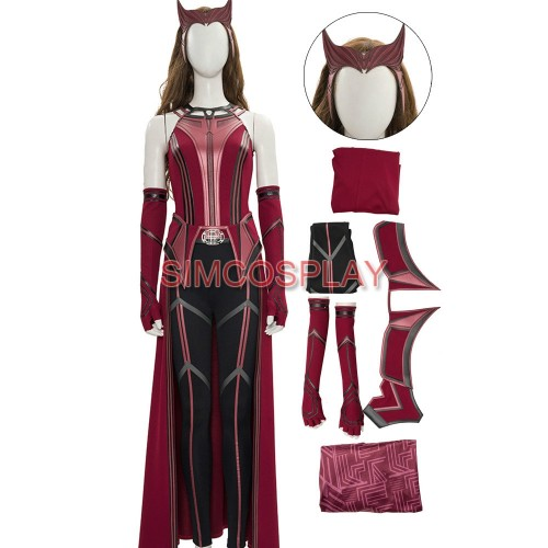 WandaVision Costume Scarlet Witch 2021 New Cosplay Suit Promotional Edition