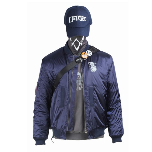 Watch Dogs 2 DedSec Marcus Holloway Cosplay Costume Sac3506