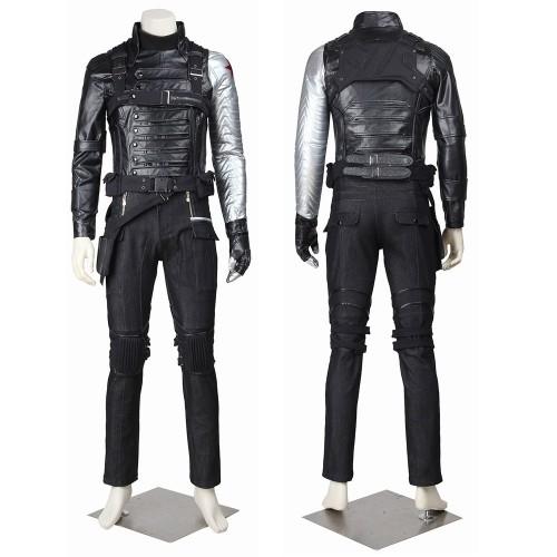 Winter Soldier Cosplay Costume Bucky Barnes Battle Suit Top Level