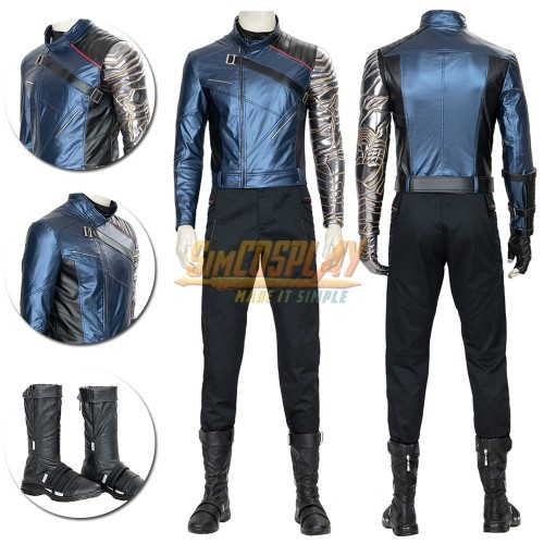 Winter Soldier Cosplay Costume The Falcon and the Winter Soldier Suit Top Level