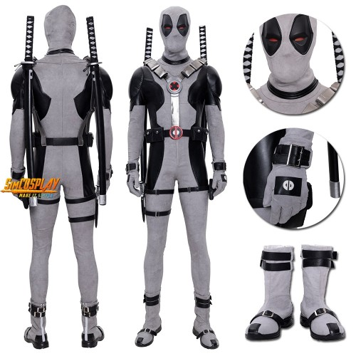 X-Force Deadpool Cosplay Costume White Deadpool Leather Cosplay Suit Top Level