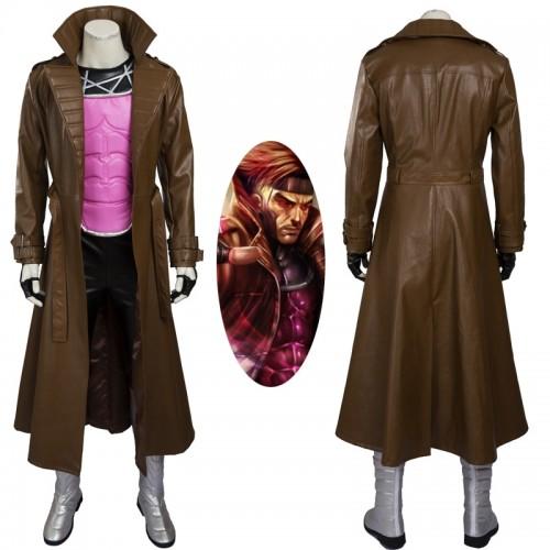 X-men Gambit Remy Etienne LeBeau Cosplay Costume sim1127xmgr