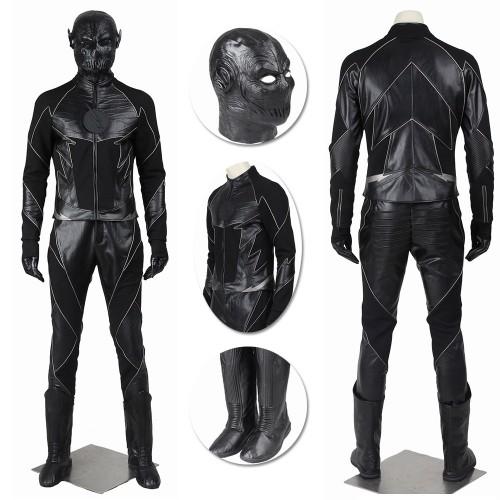 Zoom Costume Hunter Zolomon Reverse Flash Cosplay Black Suit
