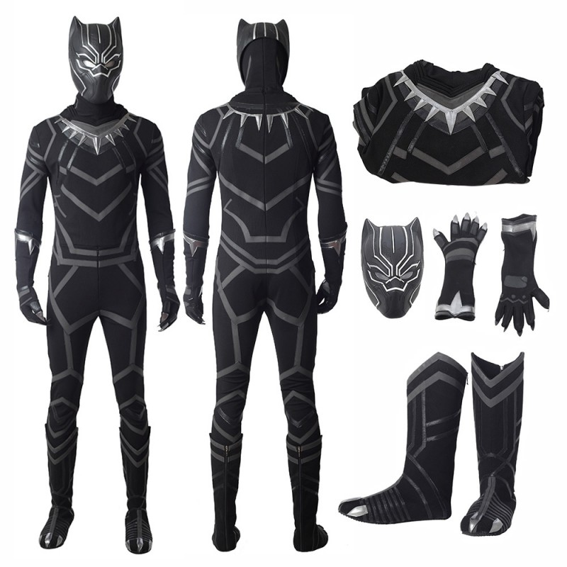 DFYM Captain America Civil War Black Panther Cosplay Costume Leather Outfit