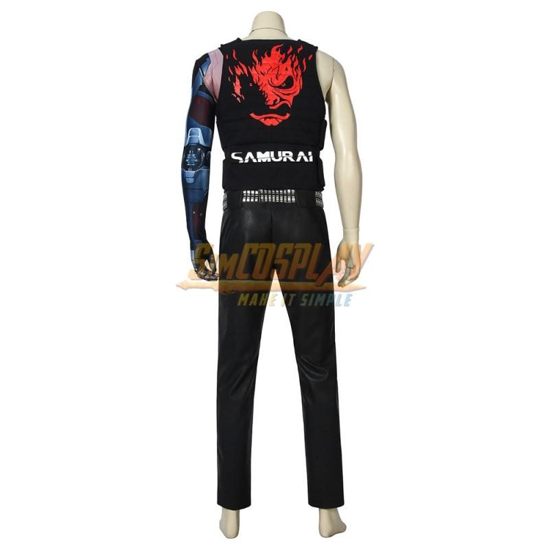 Cyberpunk-Johnny Silverhand Cosplay Costume Vest Halloween Carnival Suit
