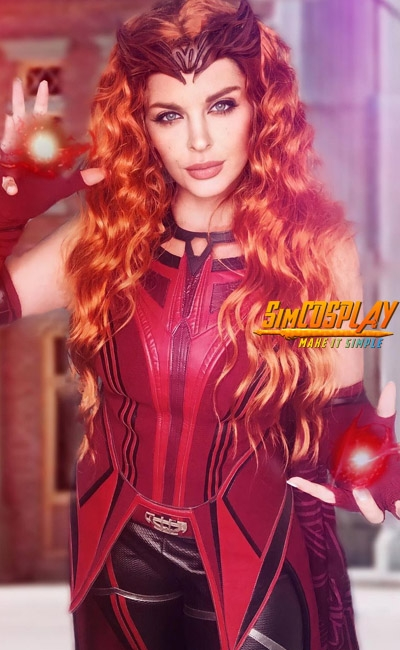 WandaVision Scarlet Witch Cosplay Costumes By samsyndulla